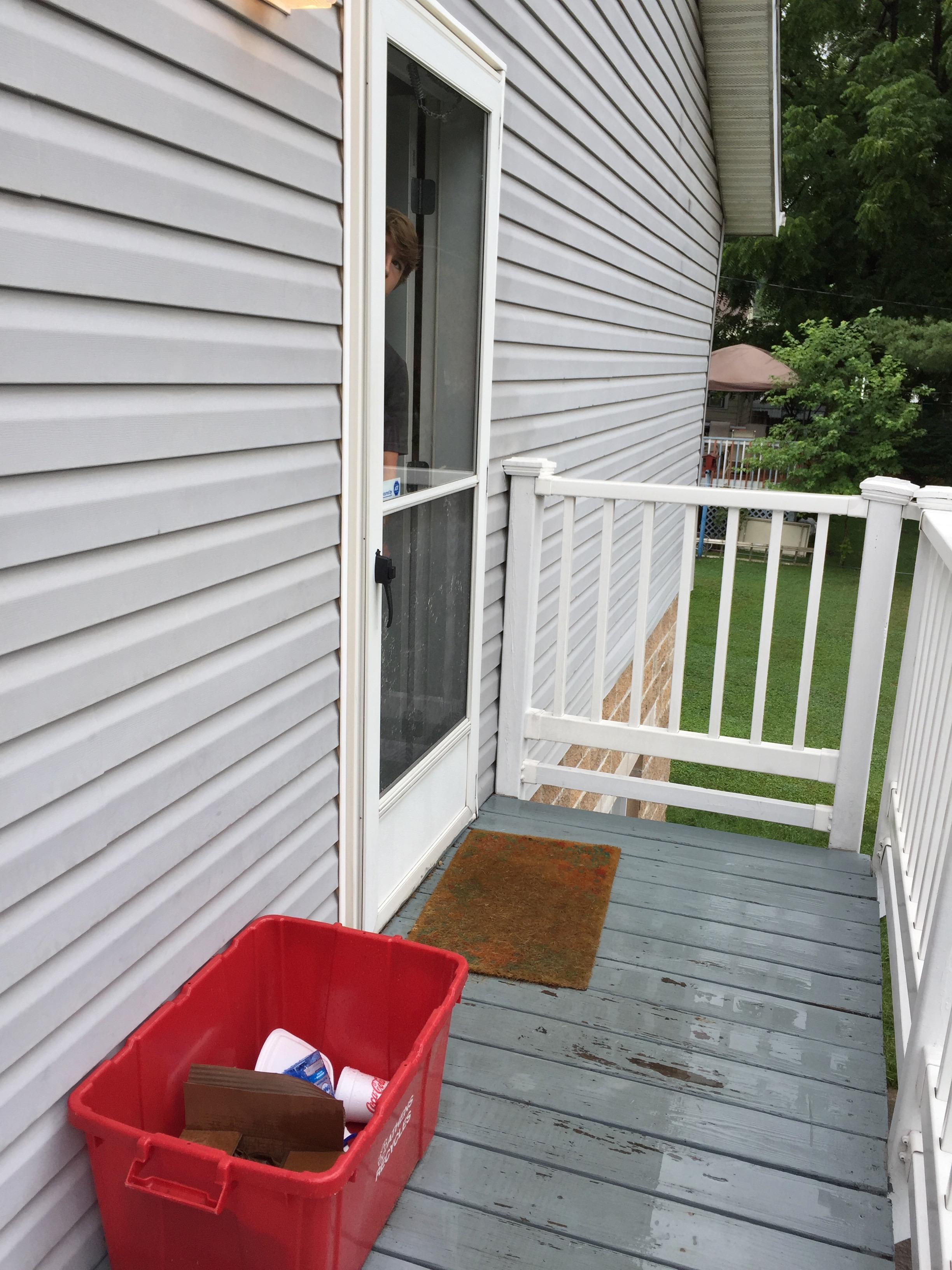 Back door/deck